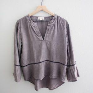 Cloth & Stone Chambray Peplum Top